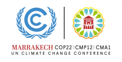 COP 22 logo of the conference where MADFORWATER showcased