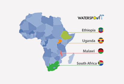 7 Water for Africa Map of countries where WATERSPOUTT is active